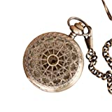 Steampunk Victorian Web Pocket Watch - Antique Brass