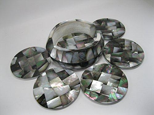 45-madreperla-marmo-coaster-set-di-6-pezzi-con-pietre-semi-preziose-pietra-dura-intarsiato-lavoro-el