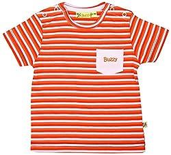 Buzzy Baby Boys' 12-18 Months Cotton T- Shirt (Orange)