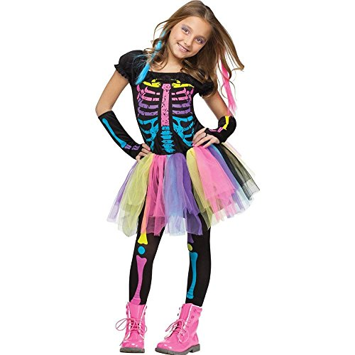 Fun World Funky Punk Bones Child's Costume (4-6) (Cute Little Girl Halloween Costumes)