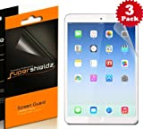 SUPERSHIELDZ- High Definition (HD) Clear Screen Protector For Apple iPad Air, 5th generation iPad + Lifetime Replacements Warranty [3-PACK] - Retail Packaging