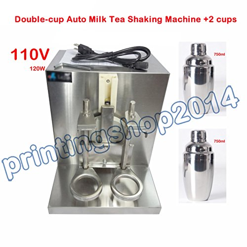 All Stainless Steel Double-cup Bubble Boba Milk Tea Shaker Auto Shaking Machine (Bubble Tea Shaker Machine compare prices)