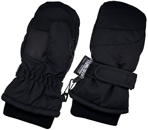 Children Toddlers and Baby Mittens Made With Thinsulate,and Fleece - Winter Waterproof Gloves By Zelda Matilda, Black, 2 - 3 Years