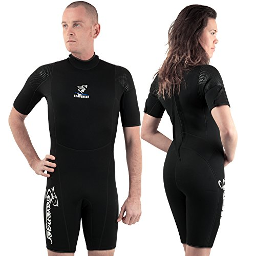 Seavenger 3mm tropical shorty for watersport / diving / snorkeling- All Black Wetsuits Size XL (Wet Suit Xl compare prices)