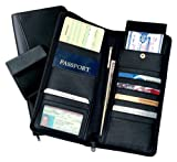 Royce Leather Expanded Document Case Black