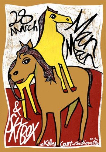 Uomo Man 28/03/07Salt Lake City Edizione limitata Silkscreen Musica Poster by Leia Bell con originale firmato e numerato: Man Uomo, Skybox, Lionelle