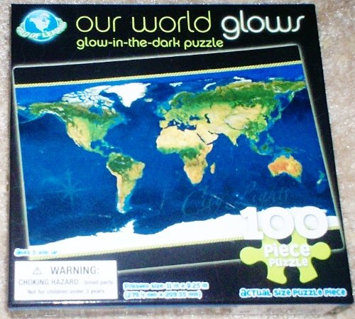 Our World Glows Glow in the Dark 100 Piece Puzzle