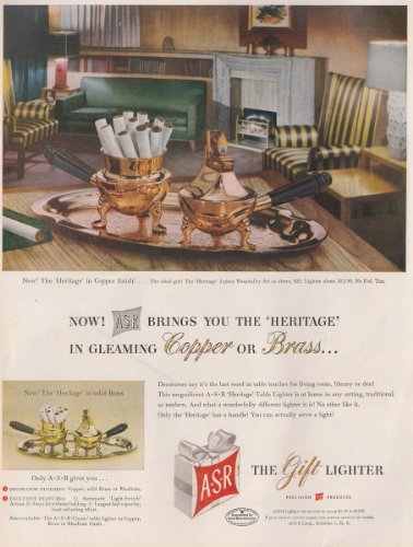 1950 ASR Lighters: Heritage, Copper or Brass, ASR Print Ad