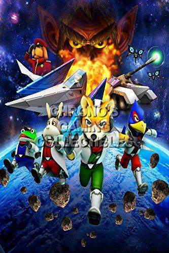 CGC Huge Poster - Star Fox - Nintendo 64 GameCube Wii U DS - STA001 (24