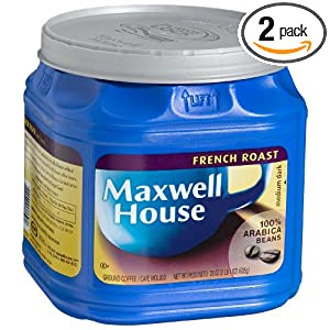 Maxwell House French Roast Ground Coffee, 33-Ounce Canister (Pack of 2)