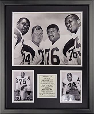 """Legends Never Die Los Angeles Rams - Fearsome Foursome &W Framed Photo Collage, 16"""" x 20"""""""