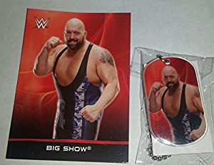 2015 WWE DOG TAGS - BIG SHOW #4 - CARD & DOG TAG
