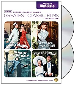 Tcm Greatest Classic Films Collection American Musicals The Band Wagon Meet Me In St Louis Singin In The Rain Easter Parade from Turner Home Ent