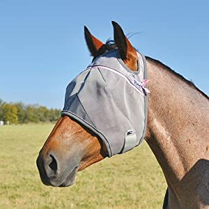 CASHEL CRUSADER FLY MASK - PINK STANDARD - ALL SIZES (Horse)