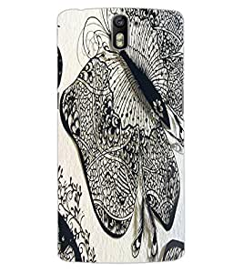 ColourCraft Butterfly Art Design Back Case Cover for OnePlus One