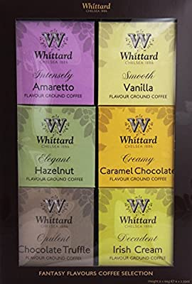 Whittard of Chelsea Flavoured Coffee Gift box (6 x 66g boxes in one gift set)