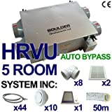 HRVU 5 ROOM FULL SYSTEM HEAT RECOVERY VENTILATION KIT AUTOBYPASS MHRV DHV-15B BP