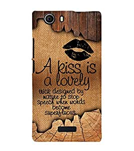 A kiss Is Lovely 3D Hard Polycarbonate Designer Back Case Cover for Micromax Canvas Nitro 2 E311 :: Micromax Canvas Nitro 2 (2nd Gen)