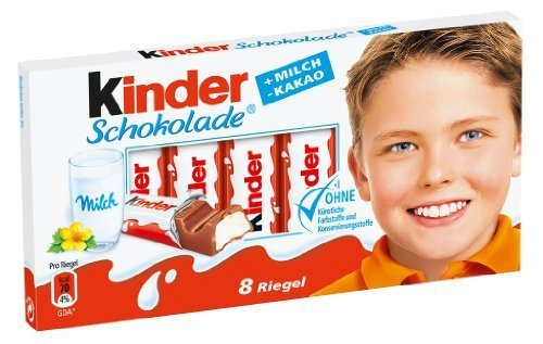Ferrero Kinder Chocolate, 8 bars
