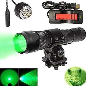 100 yard green led coyote hog hunting light. Black Bedroom Furniture Sets. Home Design Ideas