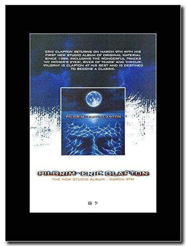 Eric Clapton-Pilgrim Magazine Promo su un supporto, colore: nero