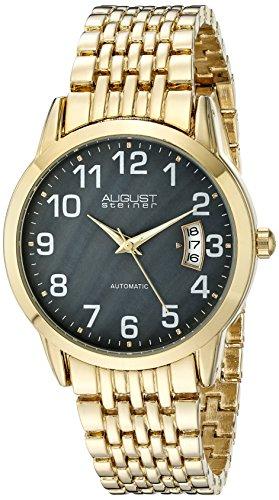 August Steiner Men's Analog Display Automatic Self Wind Gold Watch