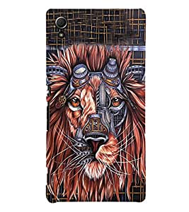Animated Lion 3D Hard Polycarbonate Designer Back Case Cover for Sony Xperia Z3+ :: Sony Xperia Z3 Plus