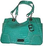 Ellen Tracy Womens Purse Handbag Christina Crocco Satchel Green