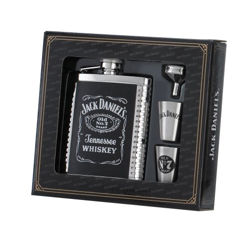 jack-daniels-6-ounce-flask-shots-funnel-gift-set