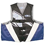 X20 4 Buckle Deluxe Dual Sized USCG Approved Floatation Life Vest (Blue, Small/Medium)