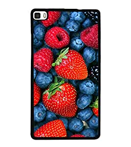 printtech Strawberry Fruits Back Case Cover for Huawei P8
