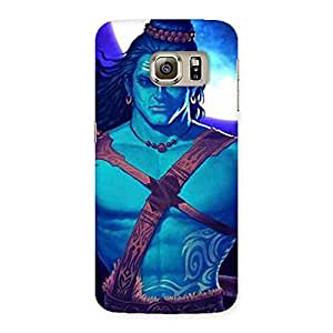Warior Shiva Blue Back Case Cover for Samsung Galaxy S6 Edge