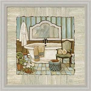 Vintage luxe i by charlene olson bathtub for Bathroom paintings amazon