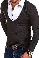 MT Styles - BL-657 - T-shirt 2 en 1 à manches longues