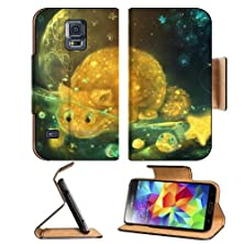 buy Stars Cats Moon Fish Jellyfish Digital Samsung Galaxy S5 Sm-G900 Flip Cover Case With Card Holder Customized Made To Order Support Ready Premium Deluxe Pu Leather 5 13/16 Inch (148Mm) X 2 1/8 Inch (80Mm) X 5/8 Inch (16Mm) Msd S V S 5 Professional Cases Ac