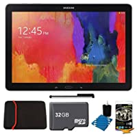 "Samsung Galaxy Note Pro 12.2"" SM-P9000ZKVXAR Black 32GB Tablet, 32GB Card, Headphones, and Case Bundle - Includes tablet, 32GB microSD memory card, 13"" tablet sleeve, audio earbuds, universal touch screen stylus pen, and cleaning kit by Samsung"