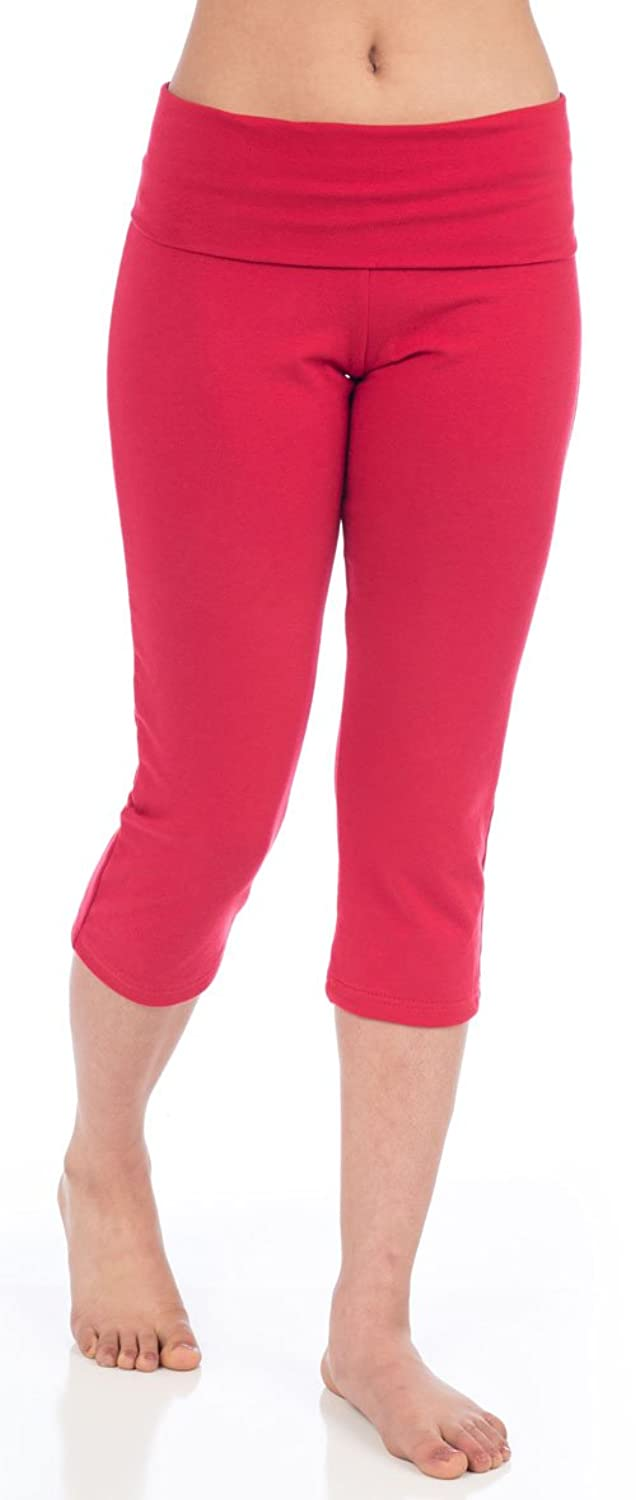 beckons-love-capri-yoga-leggings-red