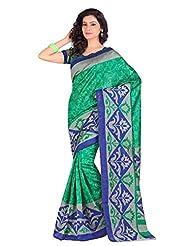 Gugaliya's Exclusive Bhagalpuri Floral Abstarct Designer Saree 15160
