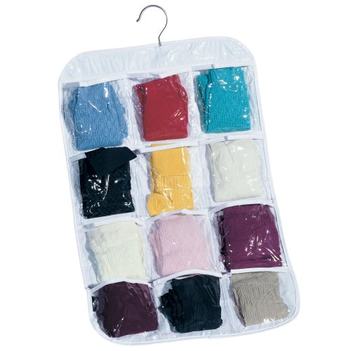 Household Essentials Hanging Clear Vinyl 12-Pocket Stocking Organizer