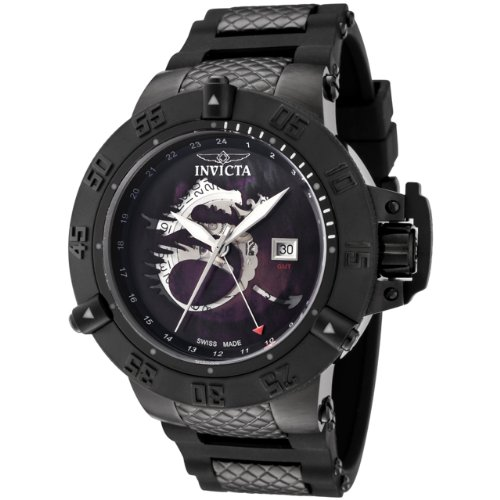 More Invicta Men-s F0059 Sub Aqua Collection Noma III GMT Black Polyurethane Watch