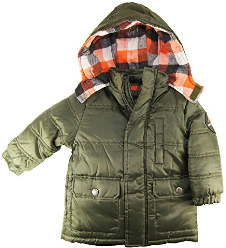 Ixtreme Little Boys 2-4T Solid Puffer Hooded Winter Jacket, Green, 2T front-954756