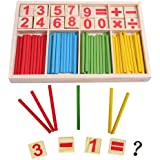 1 X Wooden Number Cards and Counting Rods with Box