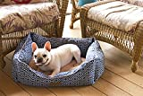 Modern Chic Trellis Cat or Dog Bed by Trendy Pet | All-in-One Design in 2 Sizes, 9 Stylish Colors | Thick, Bolstered Ultra-Soft Microfiber | Easy-to-Clean, 100% Machine Washable, Tumble Dry