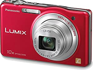 Panasonic Lumix SZ1 16.1 MP Digital Camera with 10x Optical Zoom (Red)