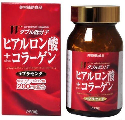 ユウキ製薬 W低分子ヒアルロン酸+コラーゲン 23-31日分 280粒