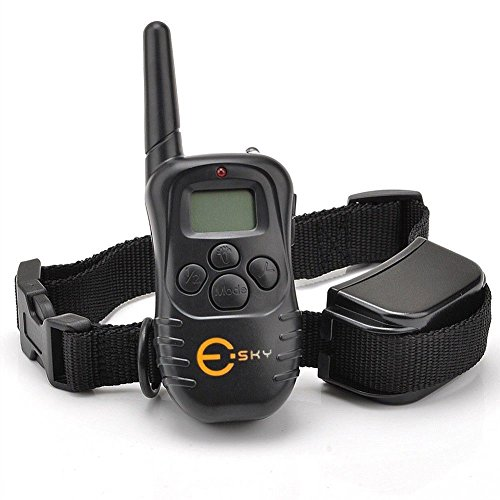 esky-rechargable-lcd-remote-control-dog-training-shock-collar-with-100-level-shock-and-vibration