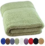 """Utopia Towels Extra Large 100% Cotton Luxury Bath Sheet, Easy Care, Ringspun Cotton for Maximum Softness and Absorbency - Sage Green (35"""" x 70"""")"""