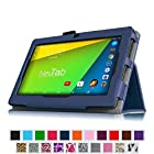 Fintie NeuTab N7 Pro/ N7 7'' Case - Folio Premium Leather Cover with Stylus Holder for NeuTab® N7 Pro/ N7 7'' Quad Core Google Android 4.4 KitKat Tablet PC - Navy