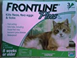 Frontline Plus Flea and Tick Cat Treatment Tube, 3-Month, Over 8-Weeks, Green