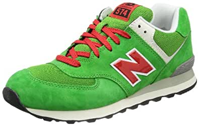 New Balance ML574 D (13H) 313831-60, Herren Sneaker, Grün (UV GREEN/RED 6), EU 36 (US 4)